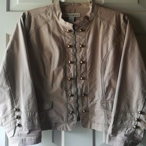 Fitted Utility Jacket 22w Tan